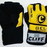 Перчатки мма желто-черные ULI-6031 CliFF Р: M фото