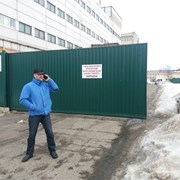 Ворота откатные (уличные) за 16 дней. Легко зимой  фото