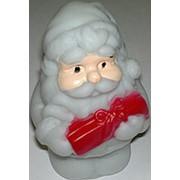 Украшение настольное, новогоднее, новогодний дед мороз, светится, на батарейках фото