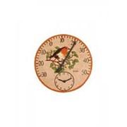 Часы садовые с термометром Снегирь, Solus Adorn фото