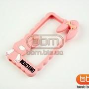 Аксессуар Bumpers iPhone 5S MOSCHINO (КРОЛИК) силикон розовый 57848 фото