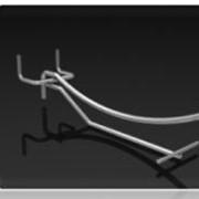Крючок одинарный для перфорации с ценникодержателем КОR-100/50 Ц КОR -150/50 Ц, КОR-200/50 Ц, КОR -250/50 Ц, КОR -300/50 Ц фото