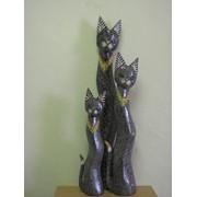 Набор 3х кошек 60,80,100см салатовый дизайн в крапинку, арт. 124033/3 фото