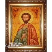 Иоанн Сочавский - Именная Икона Из Янтаря, Ручная Работа Код товара: Оар-188 фото