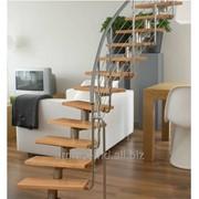 Лестница Atrium DIXI 11 ступеней с поворотом фото