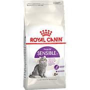 Royal Canin 2кг Sensible 33 Сухой корм для взрослых кошек с чувствительным пищеварением + 2*85г пауч фото