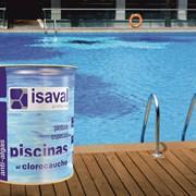 Краска для бассейнов ISAVAL Хлоркаучук 4 л голубой фото