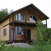 Дом панельный деревянный фото
