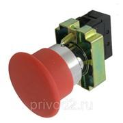 "Кнопка XB2-BC42, ""грибок"", б/фикс, металл. осн., красная, 1НЗ контакт фото"