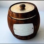 Алтайский мёд Бочонок наборный тёмный 0,7кг*14 шт 0,5л фото
