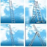 Лестницы алюминиевые фото