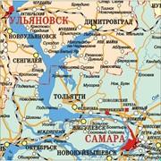 Карта Приволжский федеральный округ - Поволжье - ПФО 100х110 см фото