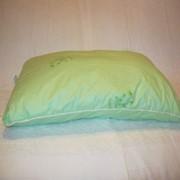 Подушка детская с бамбуковым наполнителем размером 40*60 см. фото