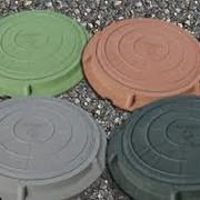 Люк канализационный, смотровой Полимерно-песчаный фото