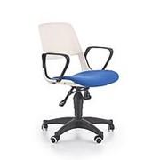 Кресло компьютерное Halmar JUMBO (белый/синий) фото