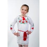 Платье Цветы девочка хлопок фото