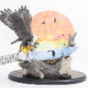 """Сувенирное изделие """"Нож индейский"""" на подставке, светящийся в виде орла(WL097) фото"""