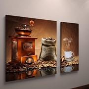 Фотокартина модульная для кухни кофе кофейные зерна фото
