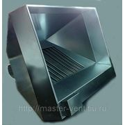 Зонт вытяжной островной 400х600 из нержавеющей стали с жироуловителем лабиринтного типа фото
