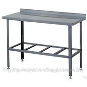 Стол производственный СП Б 1800*600*870уг. Сварной с бортом (н/ст, 6 ног) фото