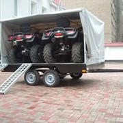Прицеп для перевозки техники, Прицеп - платформа для перевозки 2-х квадроциклов фото