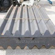 Плиты дробящие к дробилке СМД-115, 116, 108, 109, 110 фото