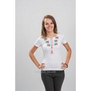 Женская футболка вышитая крестиком 48 фото