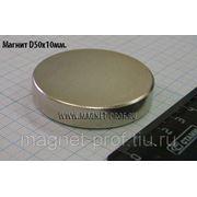 Неодимовый магнит 50х10мм фото