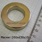 Неодимовое кольцо D50x30x10 мм. фото
