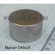 Неодимовый магнит 45х25мм. фото