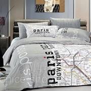 Постельное Белье с Картой Франции Paris Map 1,5 фото