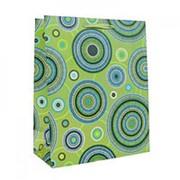 """Пакет подарочный """"Круги на зелёном"""" 21см х 26см фото"""