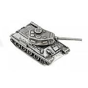 Модель Танк Т-34-85, олово (подарочная упаковка) фото