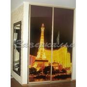 Двери для шкафов купе с Эйфелевой башней фото