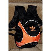 Спортивный рюкзак Adidas R-3. (черный + оранжевый) Высокое качество - лучшие цены. фото