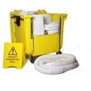 Набор для ликвидации разливов нефти superior 4-х колесный контейнер , 600 литров. артикул: 24-1755 1022 фото