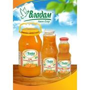 Морковно-яблочный сок Тм Владам 1 л стеклянная банка ЭКСПОРТ фото