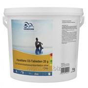 Активный кислород в таблетках для дезинфекции воды в бассейнах CHEMOFORM Аквабланк О2 фото