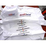 Печать на кепках и футболках. фото