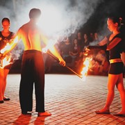 Огненная шоу-программа на 8 минут | ТРИО | фаер шоу Одесса фото