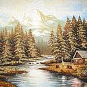 """Картина из янтаря """"Природа"""" фото"""