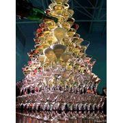 Бармен шоу, пирамида из шампанского фото