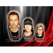 Портретная матрешка для Depeche Mode фото