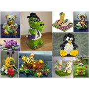Игрушки из цветов фото