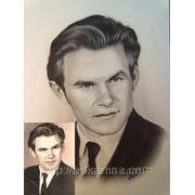 Мужской графический портрет.Портрет на заказ по фотографии фото