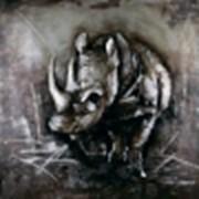Картина Savannah rhino фото