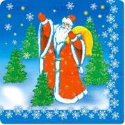 Салфетки 3-слойные Новогодние 33*33 фото