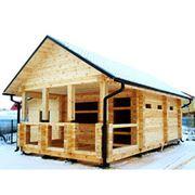 Производим бани дома и дачные домики из профилированного бруса фото