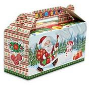 Коробка для конфет новогодняя Miland 500 гр., ПП-9086 фото