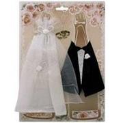Украшение для шампанского: Жених и Невеста фото